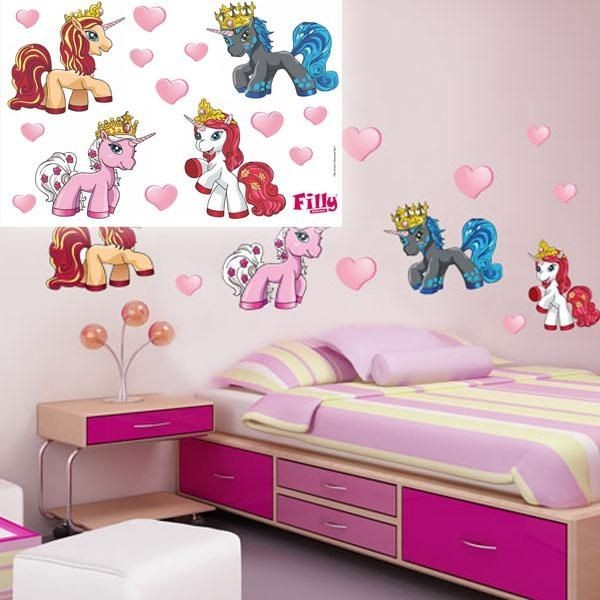 Wandtattoo-Set Unicorn15er Vinyl 60×40cm