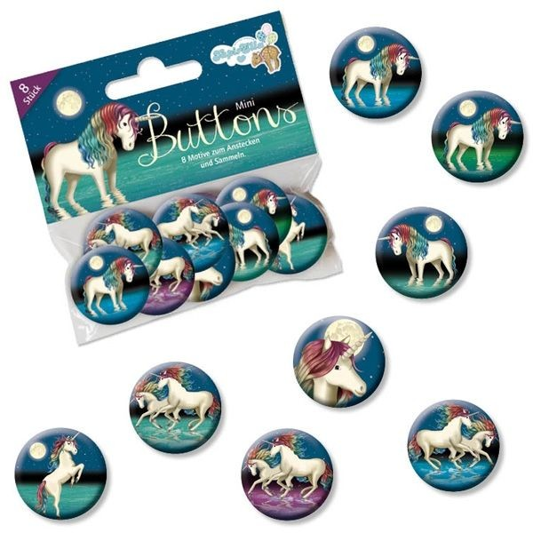 Buttons Mini Lunabelle 8er,Metall,2,5cm